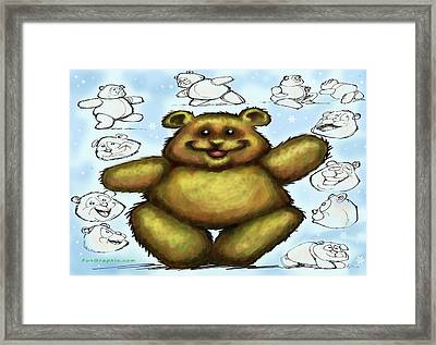 Framed Print featuring the painting Teddy Bear by Kevin Middleton