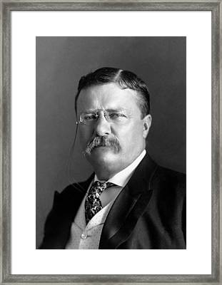 Teddy Roosevelt Portrait - 1904 Framed Print by War Is Hell Store