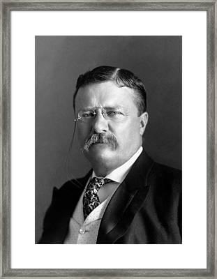 Teddy Roosevelt Portrait - 1904 Framed Print