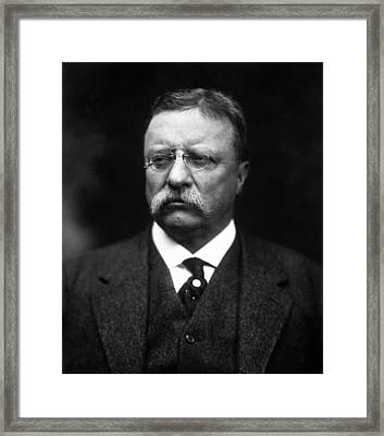 Teddy Roosevelt Framed Print by War Is Hell Store