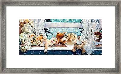 Teddy Tricks Framed Print by Hanne Lore Koehler