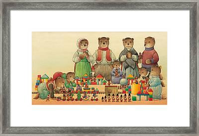 Teddybears And Bears Christmas Framed Print by Kestutis Kasparavicius