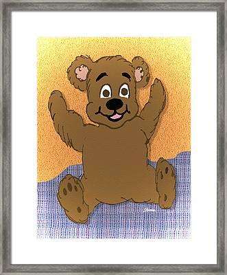 Teddy's First Portrait Framed Print by Pharris Art