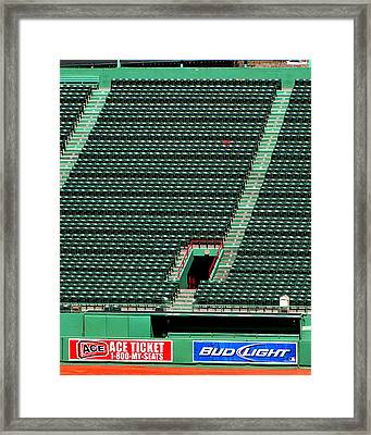 Ted's Red Seat In Context Framed Print by Bart Blumberg