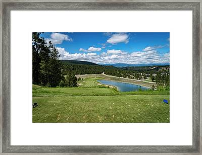 Framed Print featuring the photograph Tee Box With As View by Darcy Michaelchuk
