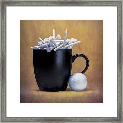 Tee Cup Framed Print