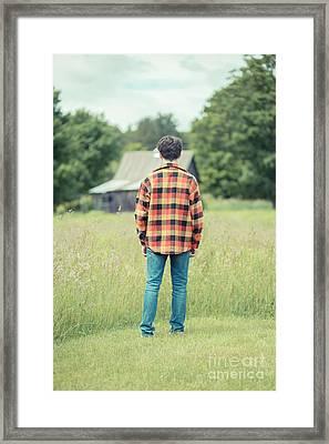 Teen Angst Framed Print