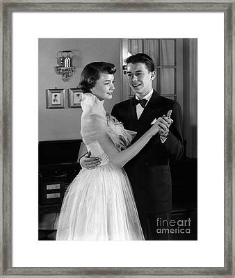 Teen Couple Dancing, C.1950s Framed Print by H. Armstrong Roberts/ClassicStock