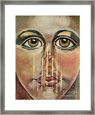 Teen Depression Framed Print