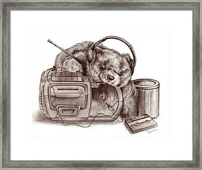 Teenage Bear Framed Print