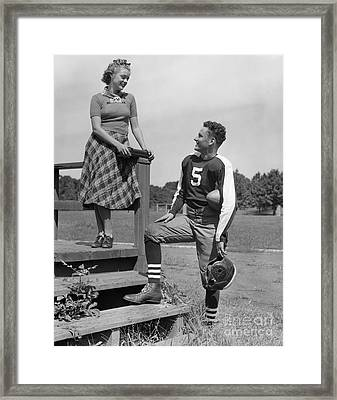Teenage Flirtation, C.1930-40s Framed Print by H. Armstrong Roberts/ClassicStock