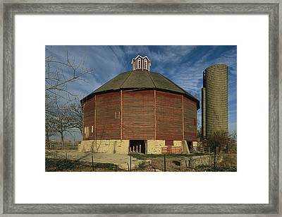 Teeple Barn, Built Circa 1885 By Dairy Framed Print by Ira Block