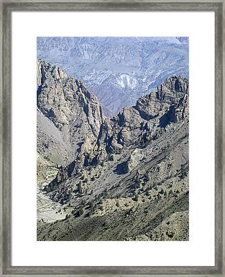 Teeth Of The Mountains Afghanistan Framed Print