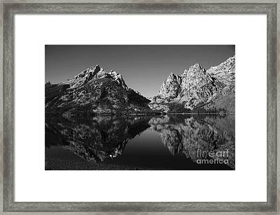Teewinot Reflection Framed Print