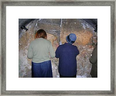 Tefillah In The Tunnels Framed Print by Susan Heller