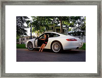 Tegan Porsche Framed Print