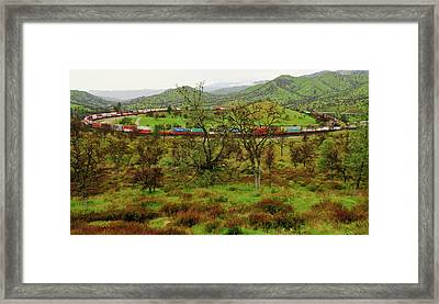 Tehachapi Train Loop Framed Print