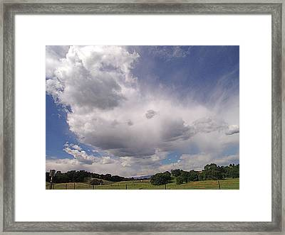 Tehama Clouds Framed Print