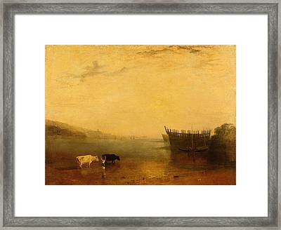 Teignmouth Harbour Framed Print by Joseph Mallord William Turner