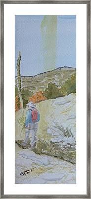 Tejas Trail Doodle Framed Print by Joel Deutsch