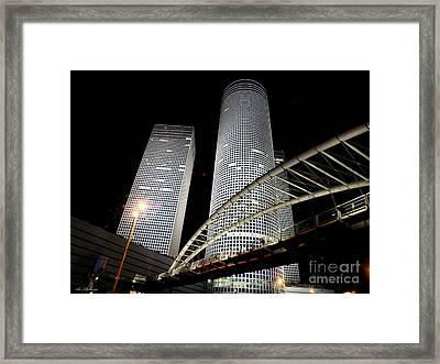 Tel Aviv Azrieli Towers Framed Print