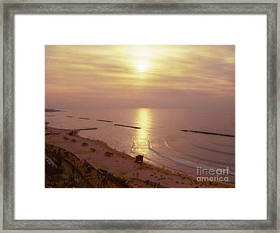 Tel Aviv Beach Morning Framed Print by Gail Kent