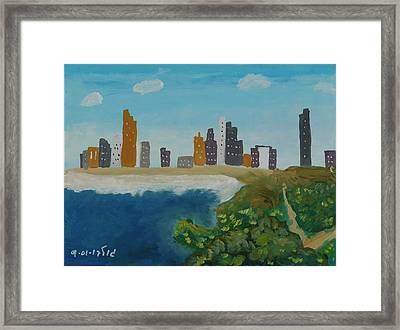 Tel Aviv Coastline Framed Print by Harris Gulko