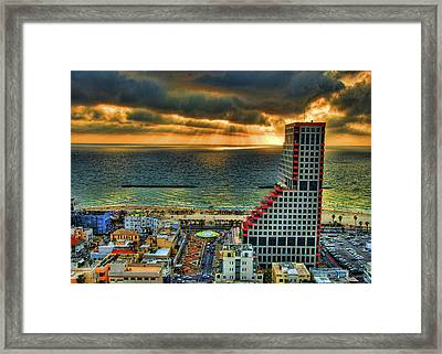 Framed Print featuring the photograph Tel Aviv Lego by Ron Shoshani