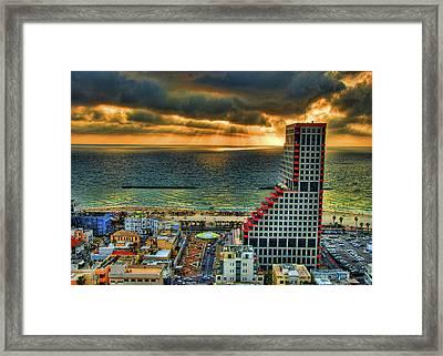 Tel Aviv Lego Framed Print