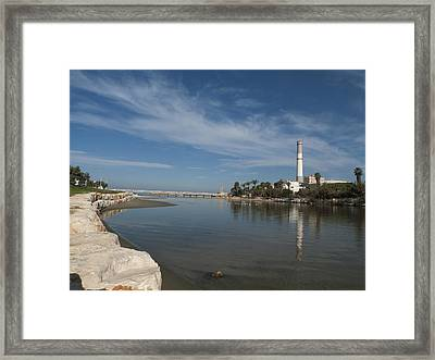 Framed Print featuring the photograph Tel Aviv Old Port 1 by Dubi Roman