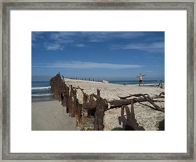 Framed Print featuring the photograph Tel Aviv Old Port 2 by Dubi Roman