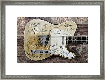 Telecaster Guitar Fantasy Framed Print