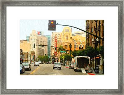 Telegraph Avenue In Oakland California Framed Print by Wingsdomain Art and Photography