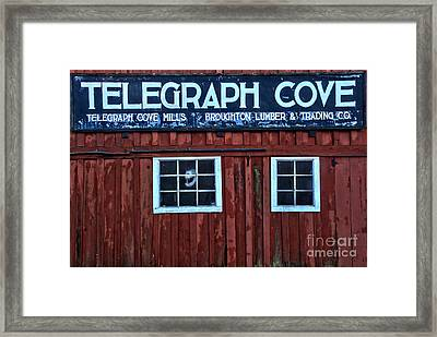 Telegraph Cove Framed Print by Adam Jewell