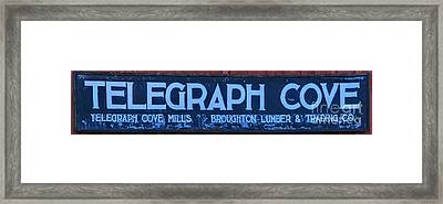 Telegraph Cove Sign Panorama Framed Print by Adam Jewell