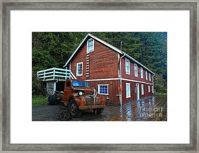 Telegraph Cove Workhorse Framed Print by Adam Jewell