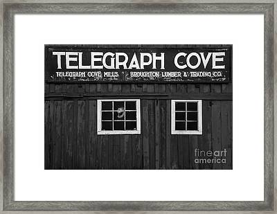Telegraph Cover Sign Black And White Framed Print by Adam Jewell