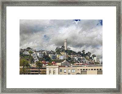 Telegraph Hill Neighborhood Homes In San Francisco Framed Print