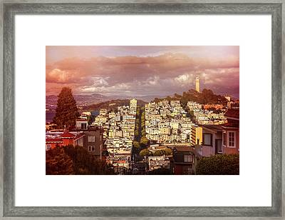 Telegraph Hill San Francisco  Framed Print