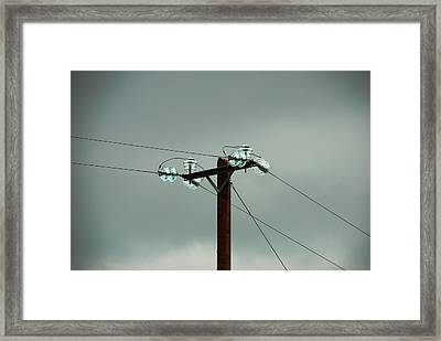 Telegraph Lines Framed Print by Charlie and Norma Brock