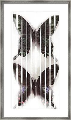 Telepathic Streaming Framed Print by Rebecca Lemke