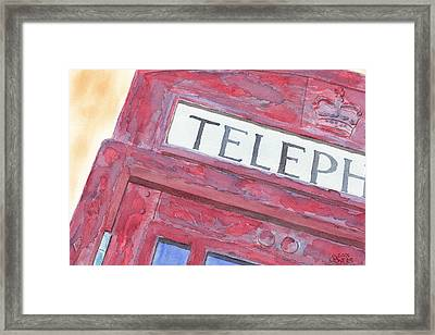 Telephone Booth Framed Print by Ken Powers