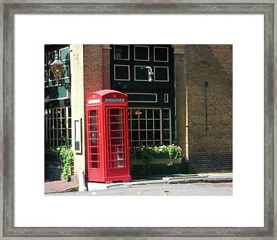 Telephone Booth Framed Print by Michael McKenzie