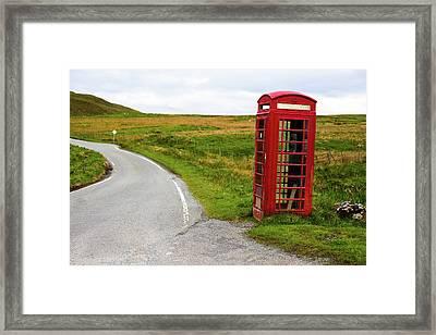 Telephone Booth On Isle Of Skye Framed Print