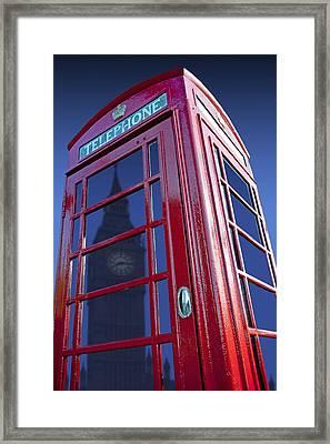 Telephone Box & Big Ben Framed Print by Simon Kayne