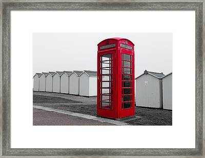 Telephone Box By The Sea I Framed Print