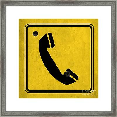 Telephone Sign Framed Print by Pablo Franchi