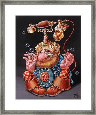 Telephonic Framed Print