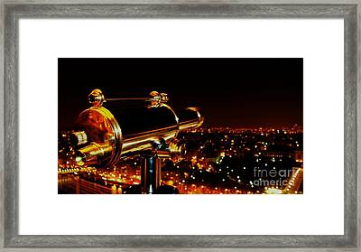 Telescope Framed Print by Louise Fahy