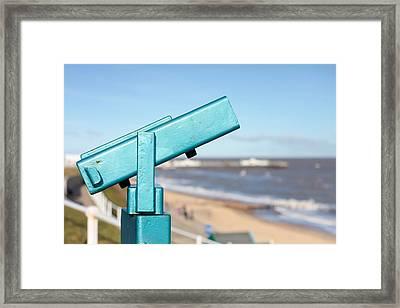 Telescope Framed Print by Tom Gowanlock